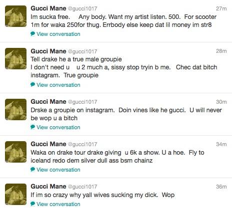 Gucci Mane's Outrageous Twitter Rant; Nicki Minaj Responds ...