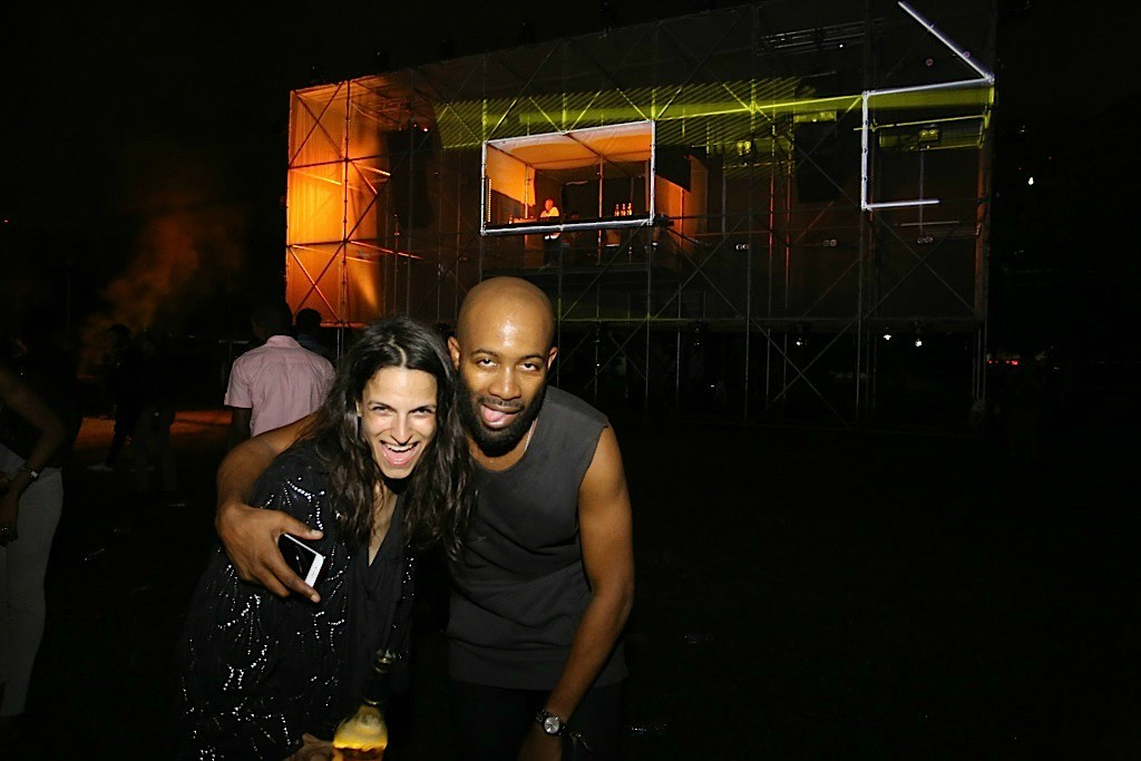 14 - Jenny Tan, the Creative Director and organiser of the event, with Chin Okeke, founder of Gidi Culture Festival