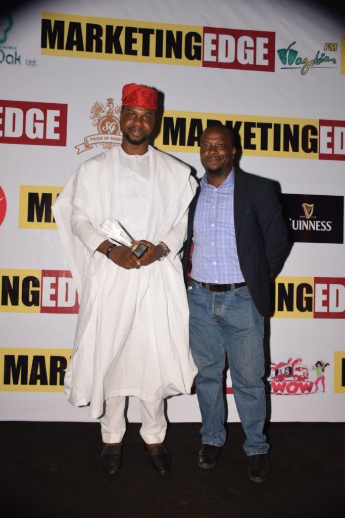 Adebola Williams, Founding Partner, RED_ Anietie Udoh, GM,Marketing Edge Magazine