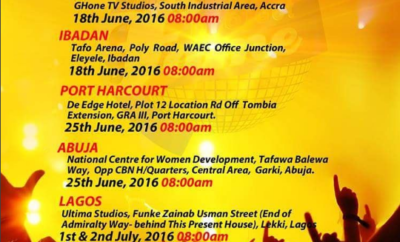 Project Fame Auditions 2016