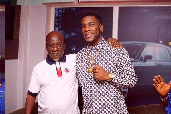 burna boy with his grand father