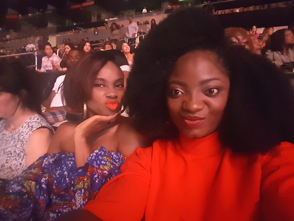TOSIN AJIBADE AND MARIA OKAN AT KATT WILLIAMS AND MIKE EPPS SHOW AT THE BET EXPERIENCE 2016