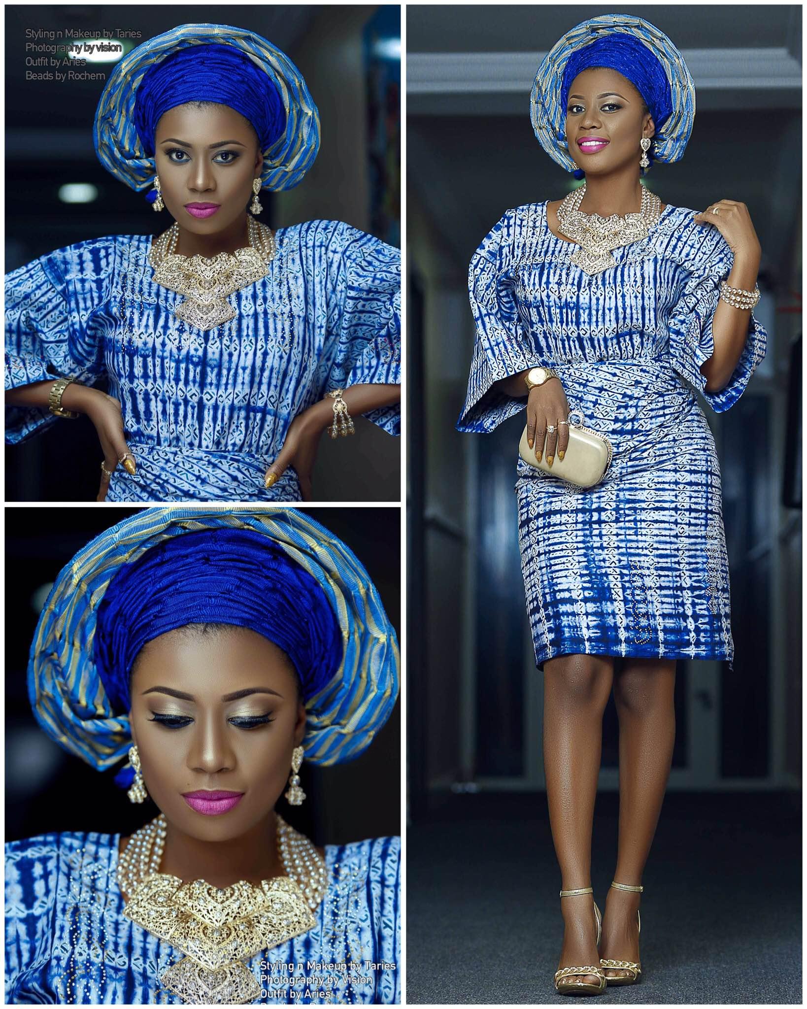 Ghanian Selly Galley Stuns in Nigerian Yoruba Attire