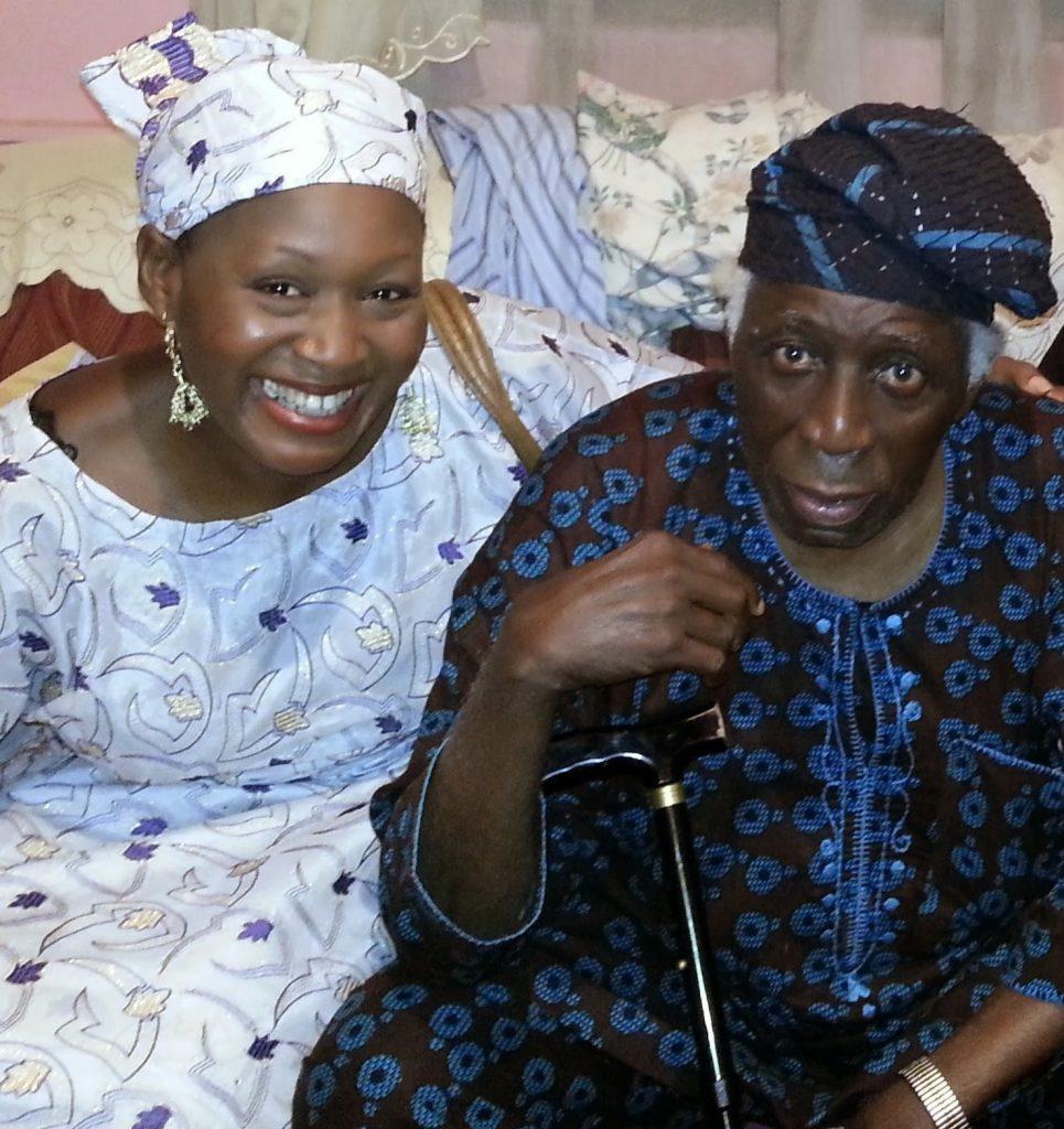 Victor Omololu Olunloyo and his daughter Kemi.