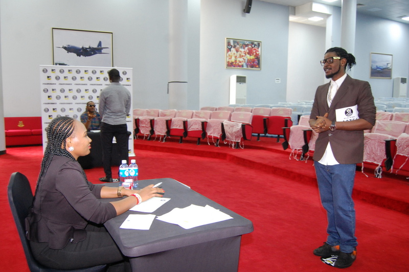 judge, Amaka with a contestant