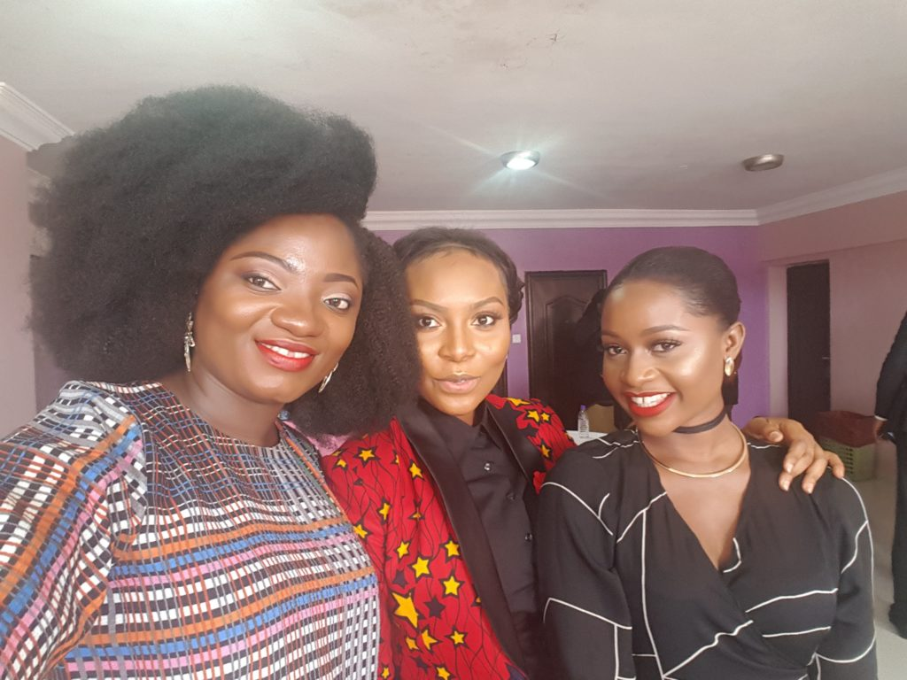 TOSIN AIBADE WITH RONKE FELLA AND ANITA BROWS