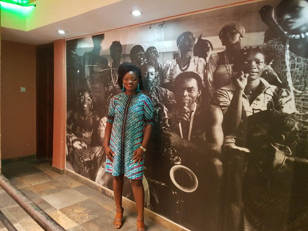 TOSIN AJIBADE AT KALAKUTA MUSEUM IN LAGOS