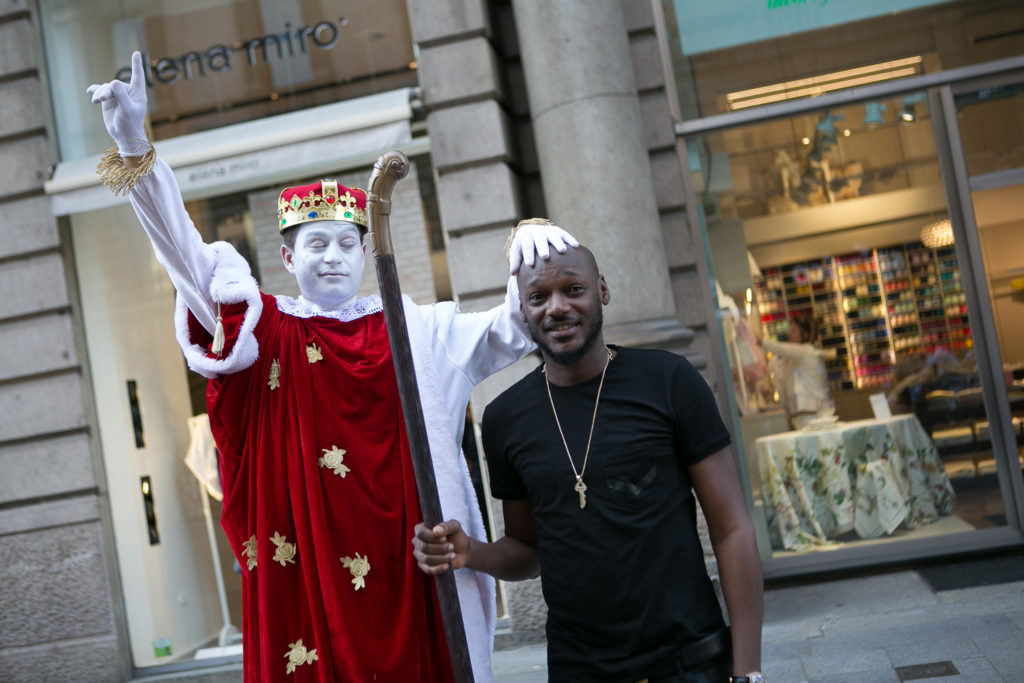 2Baba spotted Milan