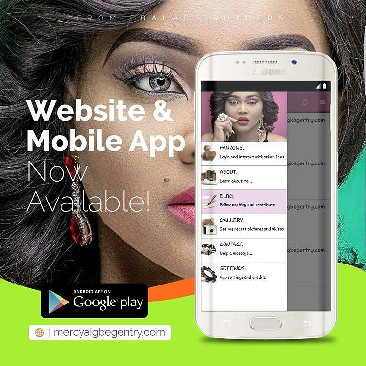 Mercy Aigbe Gentry mobile app