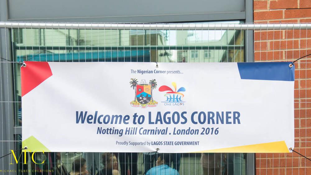 The Nigerian Corner Presents... Lagos Corner at Notting Hill Carnival 2016. ©Michael Tubes Creations