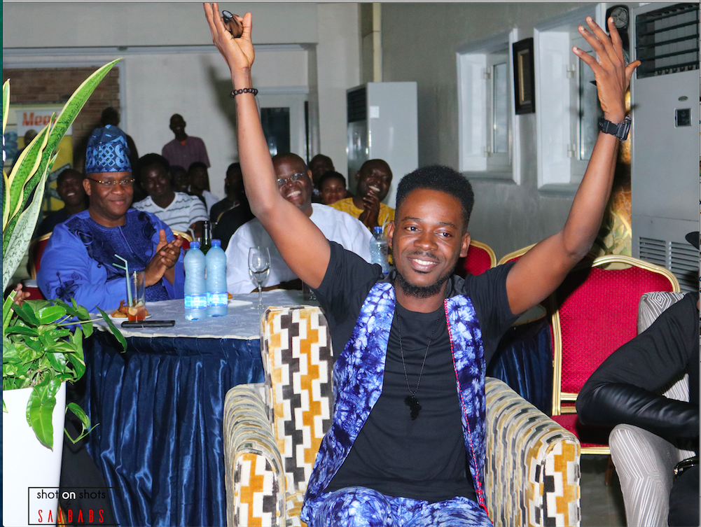 Adekunle Gold happy mood at meets media August edition
