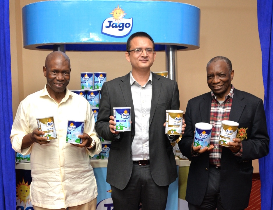 The Chairman, Sosaco Nigeria Limited, Mr. Francis Ogboro, the Managing Director, Sosaco Nigeria Limited, Mr. Shailesh Kumar and the Special Guest, Mr. Mathew Ogboro at the launch of the new Jago Gold and the unveiling of the New Pack Design for Jago D'lite held at Sheraton Hotel, Ikeja , Lagos on Saturday
