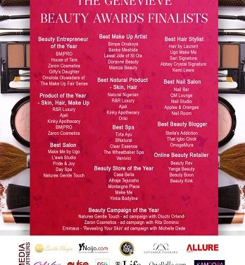 Genevieve Beauty Awards