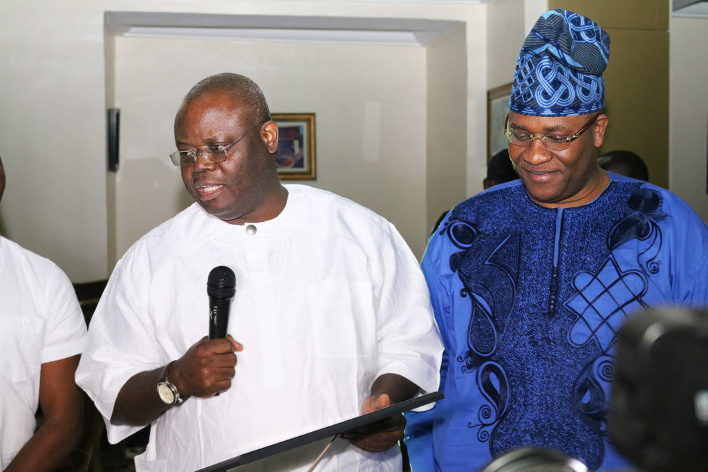 Senator Gbenga Obadara and Honourable Tunji Braimoh