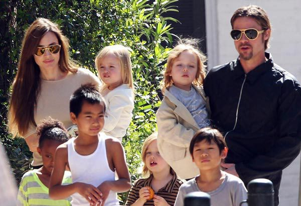 Brad Pitt, Angelina Jolie and the children