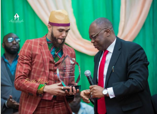 Jidenna and Professor Luke Anike
