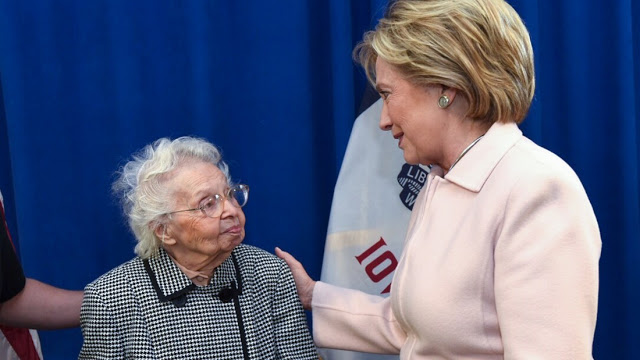 103 Ruline Steininger and Hillary Clinton