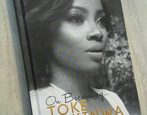 Toke Makinwa's on becoming book cover