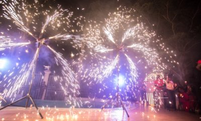 Music, Excitement, Fireworks as American Honey Holds Mansion party in Lagos!