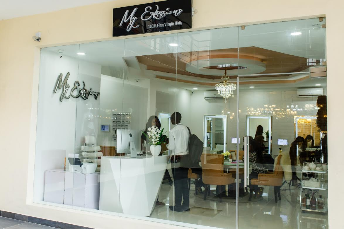 Myextensionz opens new luxury hair salon in lagos olori for Nikki o salon lagos