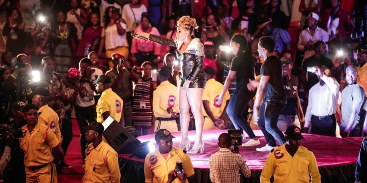 Yemi Alade Performing In Cameroon