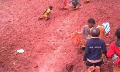 Horrible pictures of how students serve punishment in Cameroon