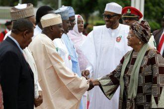 Photos: Liberian President Mrs Sirleaf Visits President Buhari