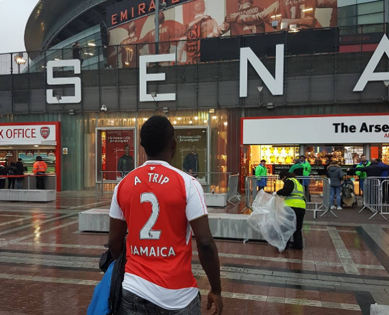 Ay Comedian visit to the emirate stadium
