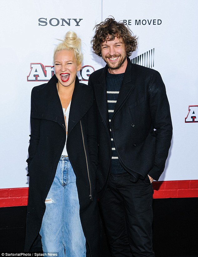Singer Sia and husband Eric Anders lang
