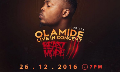 Olamide Live In Concert Beast Mode 3: December 26th