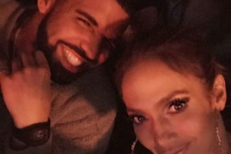 Drake and Jennifer Lopez cuddled up