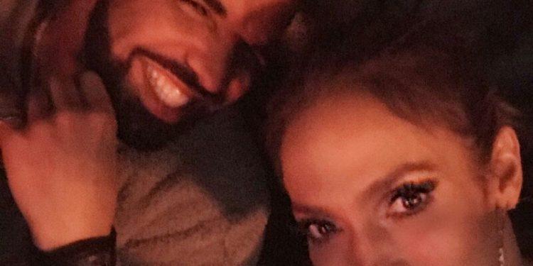 Drake and Jennifer Lopez cuddled up