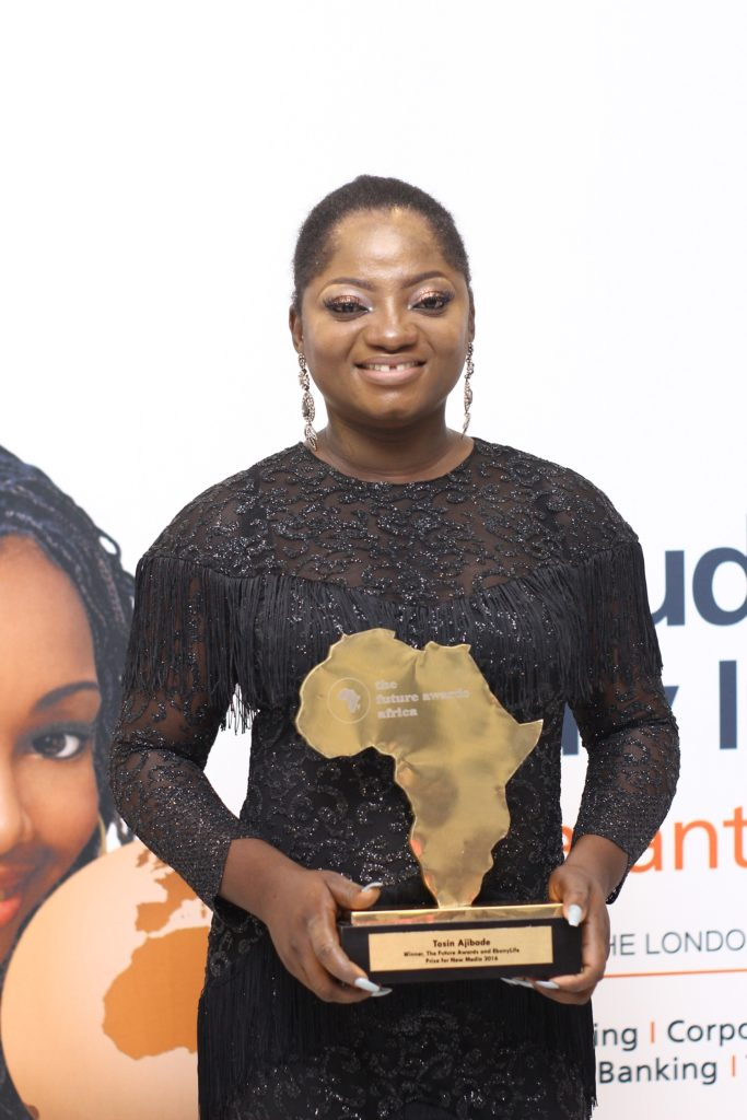 TOSIN AJIBADE, Winner, The Future Awards Africa Prize for New Media