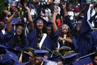 nigerian female students jubilating