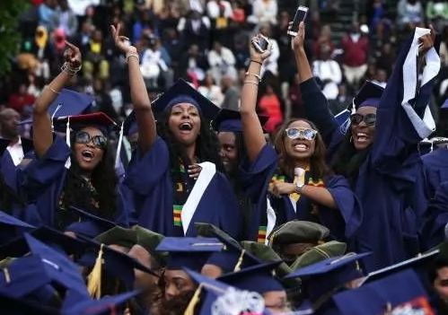 nigerian female students jubilating