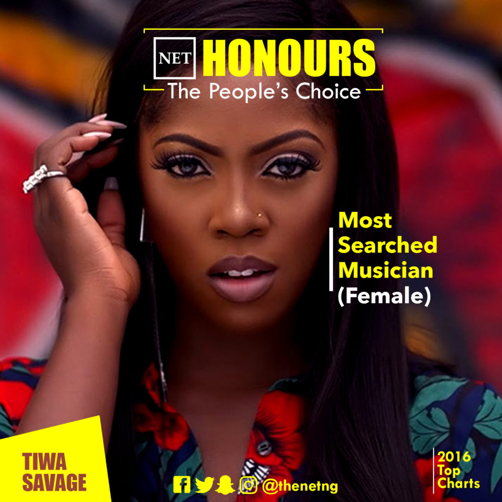 1 NET Honours Tiwa Savage