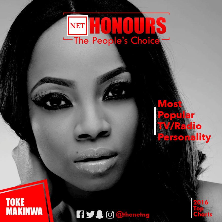 10 NET Honours Toke Makinwa