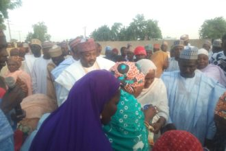 Aisha Donates Relief Materials to Borno residents