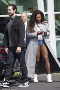 Serena Williams with spouse Fiance Alexis Ohanian