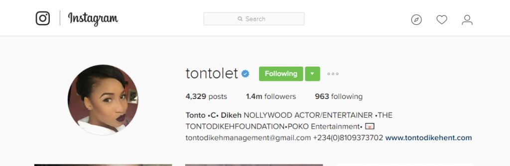 TONTO  DIKEH - IG PAGE - OLORISUPERGAL
