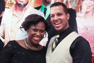 Uche Jombo Rodriguez and husband