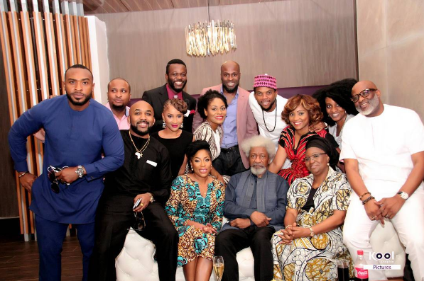 Wole Soyinka, Bimbo Fashola, Omotola Screens Wedding Party