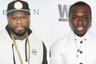 Marquise Jackson and father 50 cent in one picture