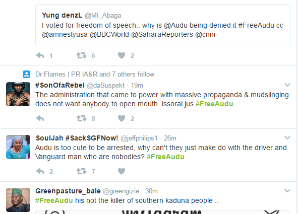 #freeaudu hashtag on Twitter