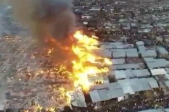 Fire Guts Makoko Slum in Lagos