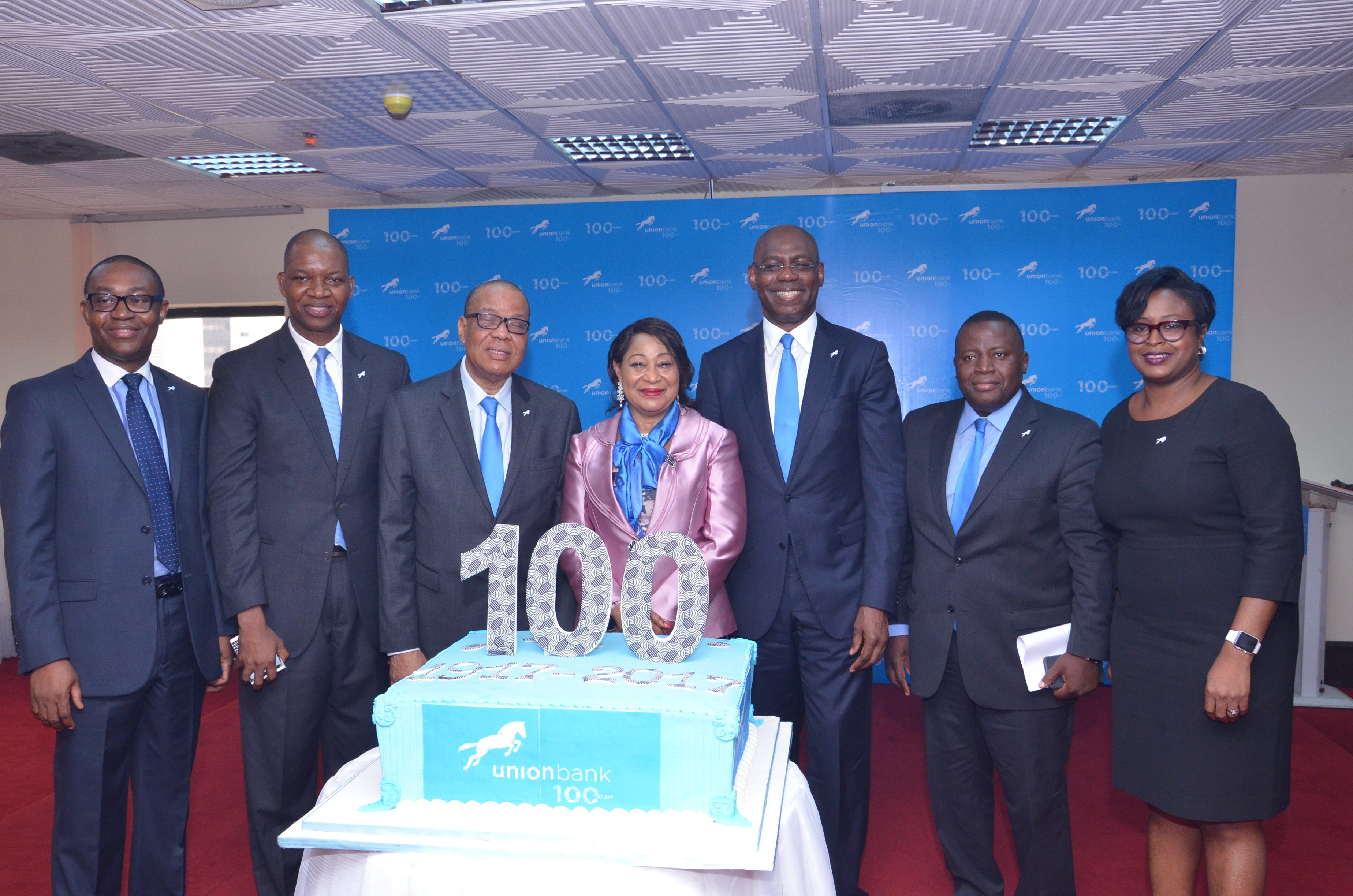 Union Bank Executives kicking-off the 100-Year Anniversary