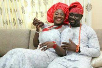 Messi Johnson and her husband prince okojie