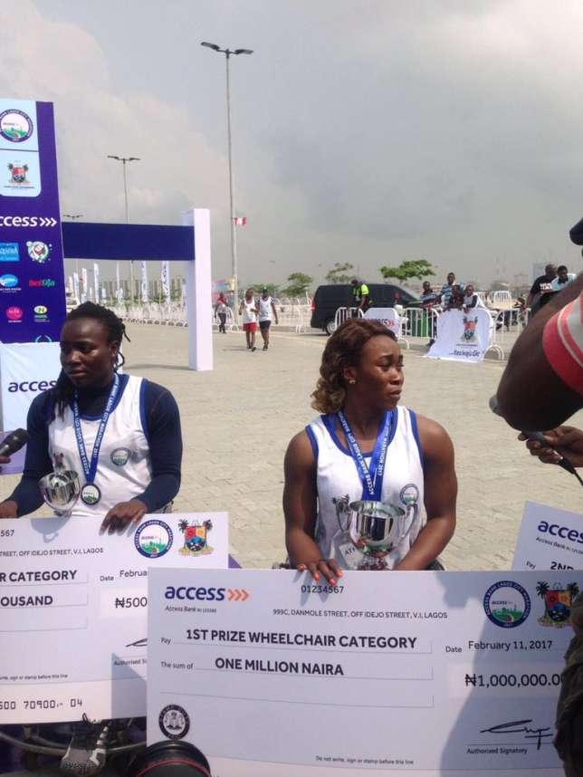 Rhoda Jepkhorir, winners of female category of lagos city marathon