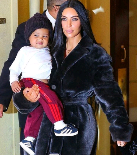 Kim Kardashian and son North West