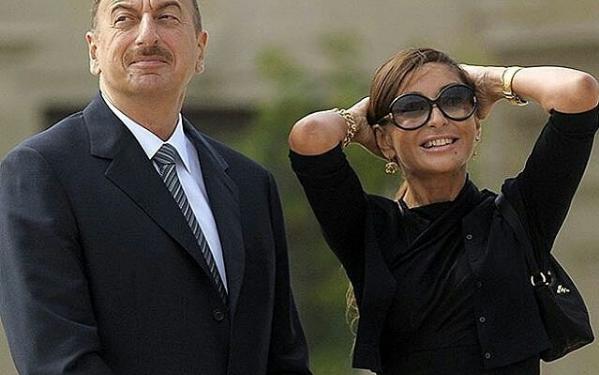 Azerbaijan President Ilham Aliyev and wife, Mehriban Aliyeva